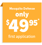$49.95 for first mosquito control application